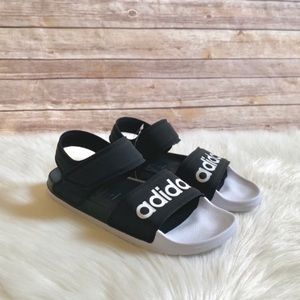 Adidas Black And White Adilette Sandals